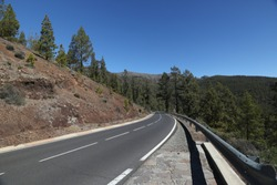 Highway in Canary Islands