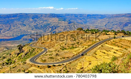 Highway in Grand Canyon of East Africa