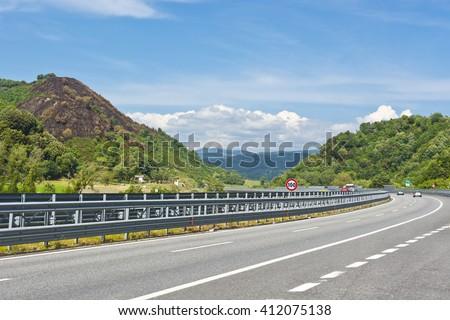 Highway in the Italian Apennines