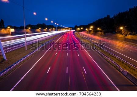 Highway long exposure