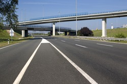 Highway near capital Zagreb in Croatia