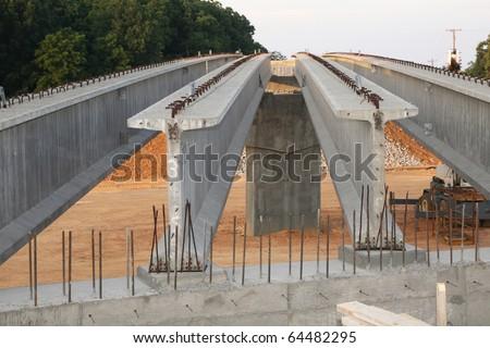 Highway overpass construction