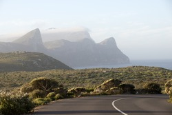 Highway passing through Cape Peninsula close to Cape Point South Africa