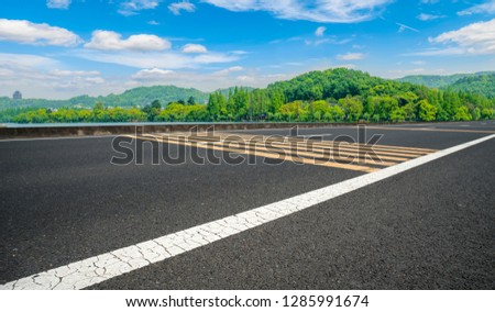 Highway Pavement Urban Road and Outdoor Natural Landscape #1285991674