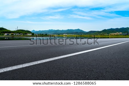 Highway Pavement Urban Road and Outdoor Natural Landscape #1286588065