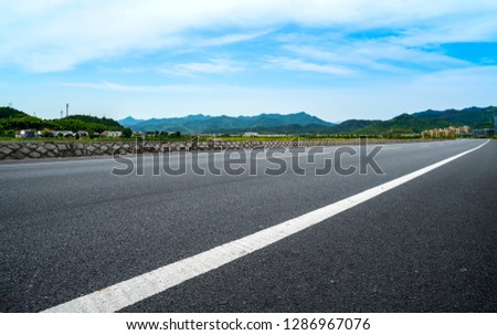 Highway Pavement Urban Road and Outdoor Natural Landscape #1286967076