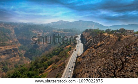 Highway Road in Mountain