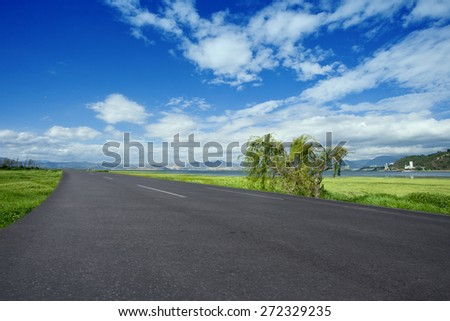 highway road in sunny day