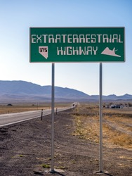 Highway 375, The Extraterrestrial Highway, in Southern Nevada near Rachel in Area 51.