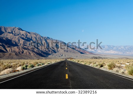 highway through death valley national park - california - USA