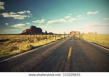 highway 163 through monument...