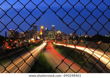 Highway to downtown Minneapolis