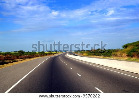 highway travel - stock photo