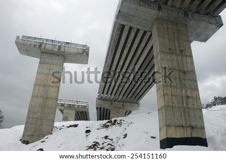 Highway viaduct construction #254151160