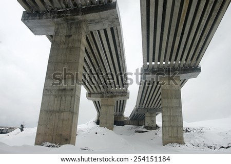 Highway viaduct construction #254151184