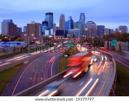 Highway 35W in Minneapolis