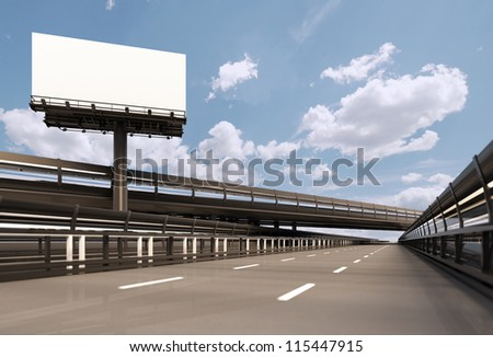 Highway with billboard