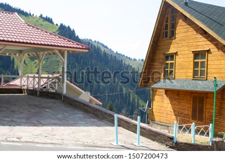 Hihglands in mountain. Almaty Shymbulak, place for tourist. Ethno tourism and eco tourism in Kazakhstan #1507200473