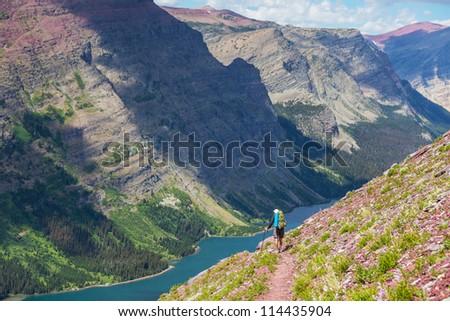Hike in Glacier National Park,Montana