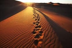 Hike in Namib desert