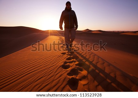 Hike in Namib desert