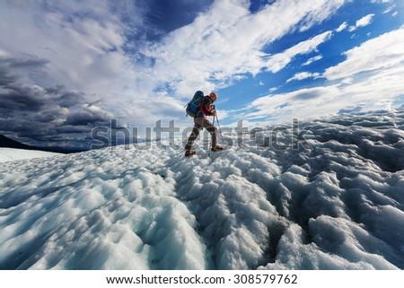 hike in wrangell st. elias...