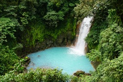 Hike to the Rio Celeste Waterfall at the Tenorio Volcano National Park in Costa Rica