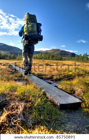 Hiker in Sweden