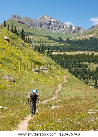 Hiking Adventure in the Rocky Mountains, Colorado, USA