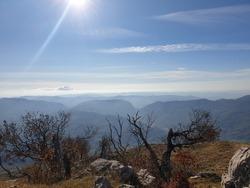 Hiking at Fag mountain in Albania.