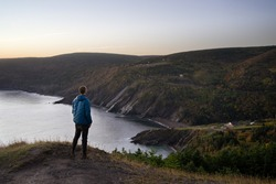 Hiking at Meat Cove, Cape Breton, Nova Scotia, Canada