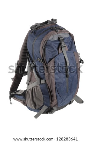 hiking backpack with white background