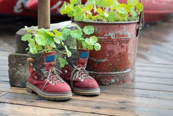 Hiking Boots Planter