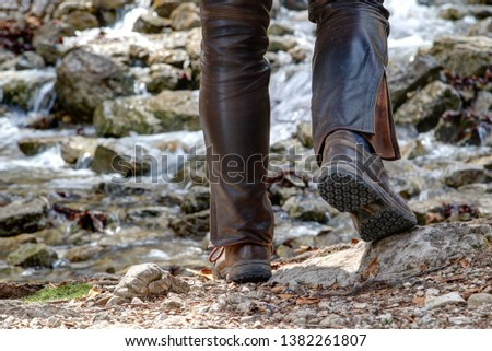 Hiking boots will find their use on low mountain hikes and tours through rough terrain. Coarse gravel, rocky paths and streams are no obstacle to good hiking boots. #1382261807