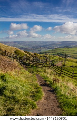 Hiking footpath in the English countryside in the summer #1449160901