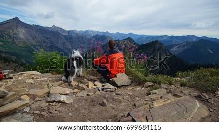 Hiking in North Central Washington, Glacier Peak Wilderness, Cascade Mountains #699684115