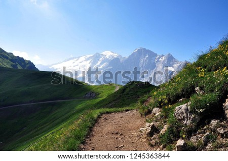 Hiking in the Dolomites #1245363844