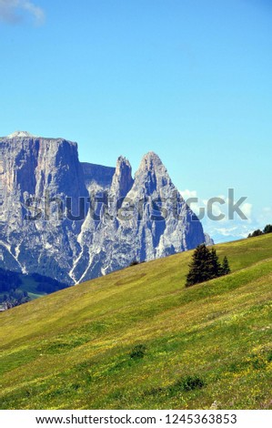 Hiking in the Dolomites #1245363853