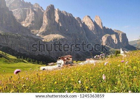 Hiking in the Dolomites #1245363859