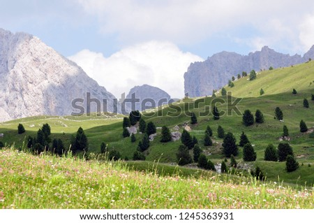 Hiking in the Dolomites #1245363931