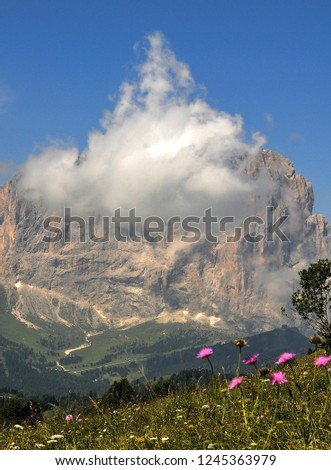 Hiking in the Dolomites #1245363979