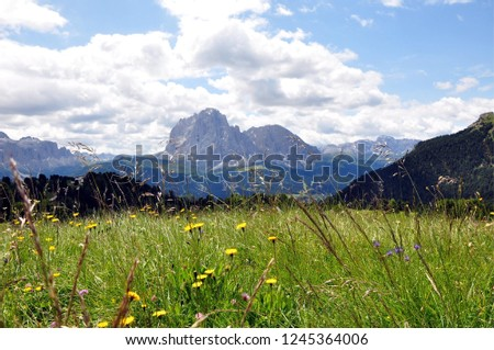 Hiking in the Dolomites #1245364006