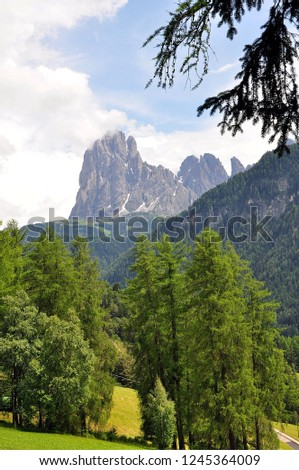 Hiking in the Dolomites #1245364009