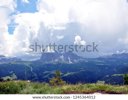 Hiking in the Dolomites #1245364012