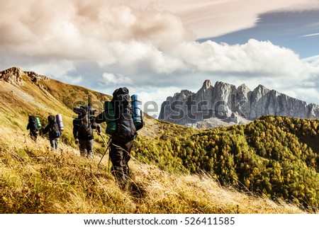 hiking in the mountains