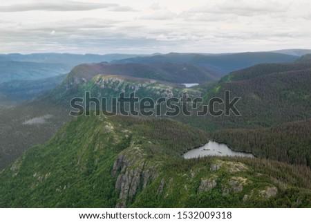 Hiking landscape Pic de l'aube in Gaspésie Québec