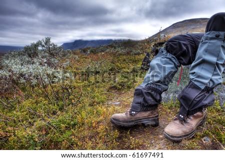 Hiking legs take a break in Lapland