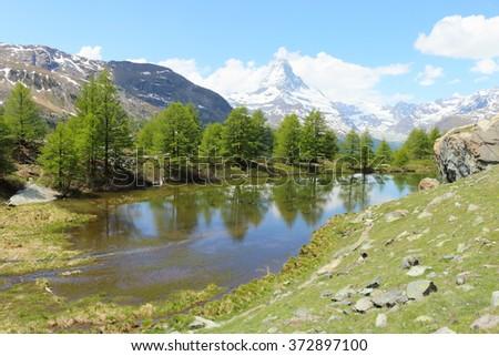 Free photos Hiking paradise at lake Grindji with Matterhorn, Alps ...