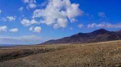 hiking path near Morro Jable on Fuerteventura