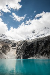hiking to the Laguna 69, Peru